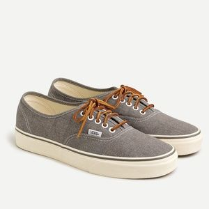New JCREW x Vans Washed Canvas Authentic Sneakers